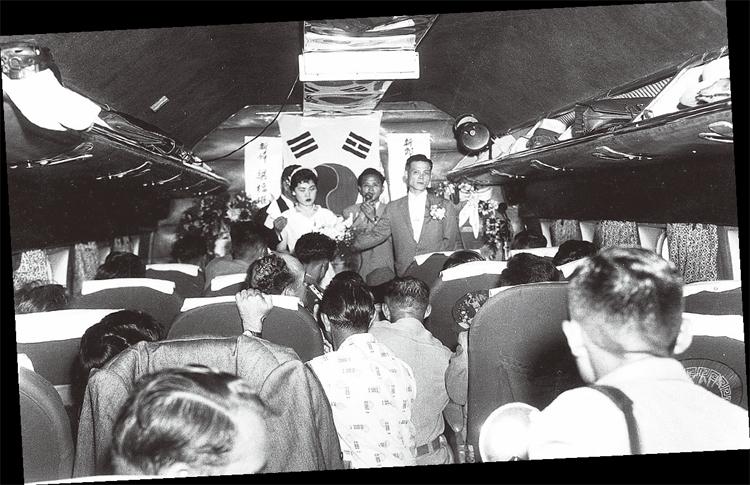 1958년 기내 결혼식